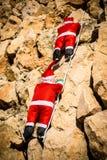 Santa na ścianie fotografia stock