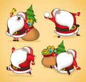Santa na ação Foto de Stock Royalty Free