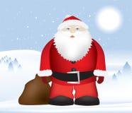 Santa na neve Fotos de Stock