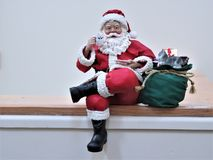 Santa na półce Zdjęcie Stock