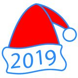 Santa nakrętka 2019 ilustracja wektor