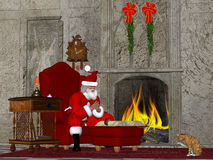 Santa and the Naughty and Nice Book Royalty Free Stock Photos
