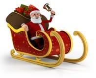 Santa nella sua slitta Immagini Stock