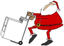 Santa with a new clothes dryer Stock Images