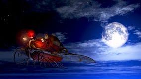 Santa Night Run Royalty Free Stock Image