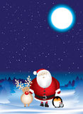 Santa night scene Stock Photography