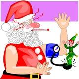 Santa no czuje dobrze ilustracja wektor