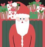 Santa no trenó Imagem de Stock Royalty Free