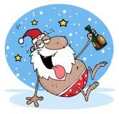 Santa noire ivre Image stock