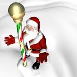 Santa North Pole 1. Santa with his tongue stuck to the North Pole Stock Images