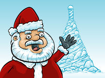 Santa at the North Pole Royalty Free Stock Photography