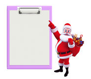 Santa With notepad Stock Images