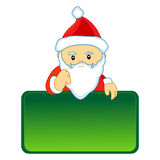 Santa with notice Royalty Free Stock Images