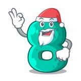 Santa number eight volume logo the mascot. Vector illustration vector illustration