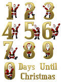 Santa by the Numbers 0-9 Stock Photos