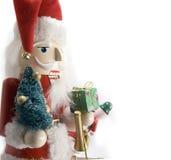 Santa nutcracker. On white background Stock Images