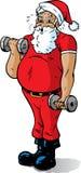 Santa obtenant dans la forme Photographie stock