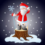 Santa obteve perdida na noite do Natal Imagens de Stock