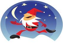 Santa occupée Photographie stock