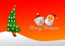 Santa och frostigt kort Royaltyfri Foto