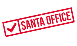 Santa Office rubber stamp Stock Images