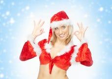 Santa is OK Stock Photo