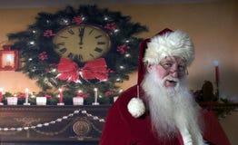 Santa ono Uśmiecha się Zdjęcia Stock