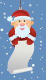 Santa Ornament. Holding wish list Royalty Free Stock Photo