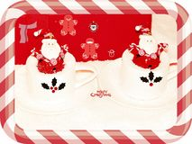 Santa and others decorations Royalty Free Stock Photo
