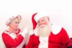 Santa ottiene rimproverare Fotografia Stock Libera da Diritti