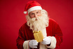 Santa with package royalty free stock image
