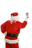 Santa with Paintbrush Royalty Free Stock Photo
