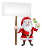 Santa Paintbrush Sign Photographie stock libre de droits