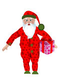 Santa in pajamas Royalty Free Stock Images