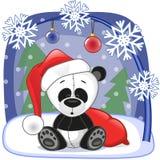 Santa panda ilustracji