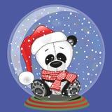 Santa Panda Royalty Free Stock Photography