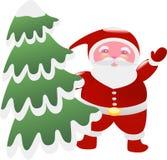 Santa para el árbol de navidad Imágenes de archivo libres de regalías