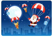 Santa Parachutist Stock Photos