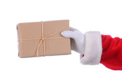 Santa with parcel Stock Images