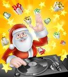 Santa Party discjockey Royaltyfri Fotografi