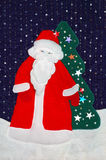 Santa patchwork Royalty Free Stock Photo