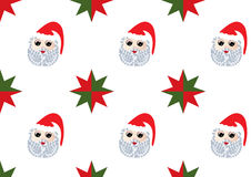 Santa pattern. With stars in 2 colors Royalty Free Stock Photo