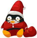 Santa penguin Royalty Free Stock Photography