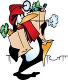 Santa penguin Royalty Free Stock Photos