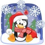 Santa Penguin Stock Photography