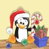 Santa Penguin Stock Images