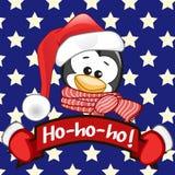 Santa penguin Royalty Free Stock Image