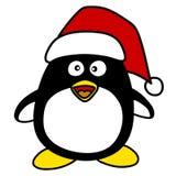 Santa penquin cartoon . Royalty Free Stock Image