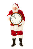 Santa: Perto do Natal da meia-noite Eve Midnight Fotos de Stock Royalty Free