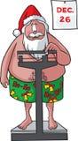 Santa pesa dentro Fotografie Stock